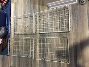 Four IKEA Rationell Wire Baskets With Rails (No Frame)