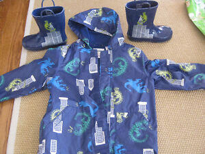 Gymboree Rain Coat and matching boots... St. John's Newfoundland image 1
