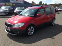 62 SKODA ROOMSTER STOUT 1.6 TDI CR 105 RED 1 OWNER