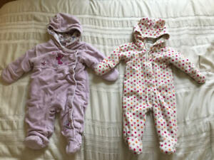 Baby Girl Fleece bunting outerwear 3-9months
