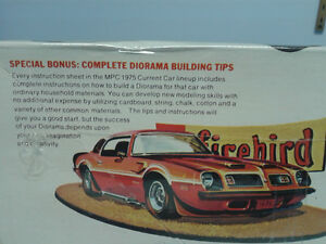 75  Pontiac Firebird MPC Plastic model never opened
