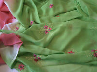 PINK AND LIME GREEN MATERIAL