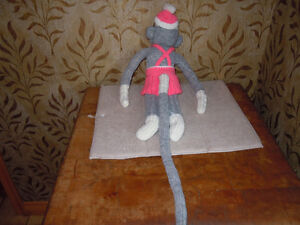 stuffed sock monkeys with knitted outfits Peterborough Peterborough Area image 4