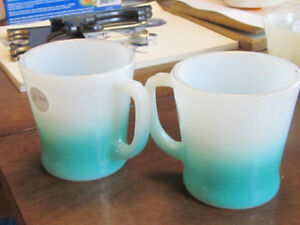 Fire King Anchor Hocking Coffee Mugs Tea Cups
