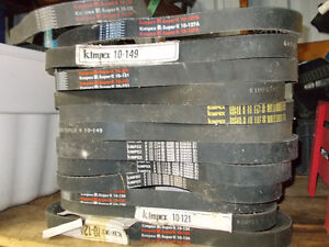 13 New Old Stock Kimpex Snowmobile Drive Belts