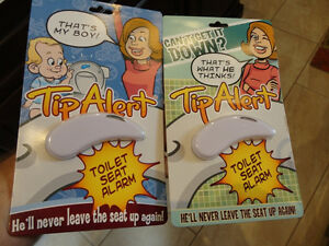Tip Alert Toilet Seat Alarms - One for the Males & One for Tots