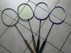 Badminton rackets  1 for $8 4 for $24 10/10 condition brand new