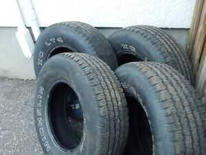 SET OF FOUR MICHELIN TIRES