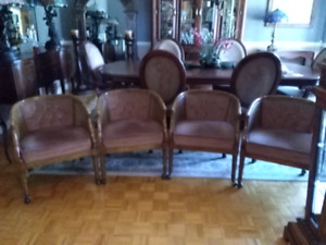 4 chairs chaises Hollywood Regency
