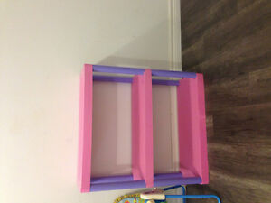 Girls plastic shelf