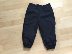 Pantalon de nylon doublé en polar 24 mois