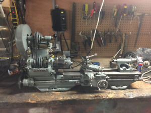 Myford ML7 metal Lathe electronic variable speed.