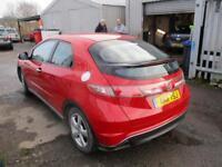 2011 Honda Civic Hatch 5Dr 1.8i-VTEC 140 SE 6Spd Petrol red Manual