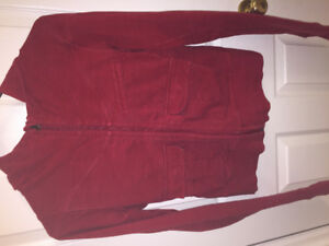 Lululemon red scuba hoodie with pockets