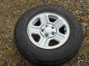 Rims and tires 225/75/16 for Jeep JK