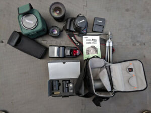 Canon Rebel xsi 450d kit. Lens and Speedlite 580Flash