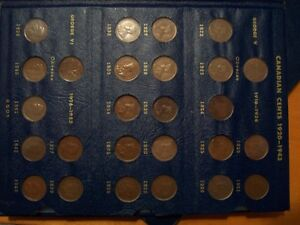 complete set of small one cent coins 1920 to 1969 - great gift