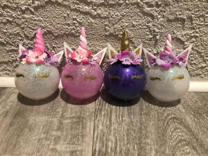 Handmade Unicorn Ornaments