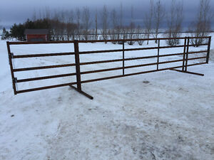 Corral panels, feed troughs
