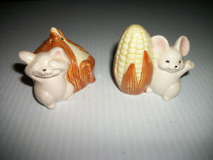 Fitz & Floyd Mice with onion and corn salt pepper shakers Regina Regina Area image 1