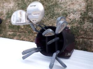 batons de golf et sac