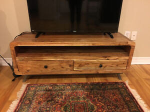 Beautiful solid wood tv stand