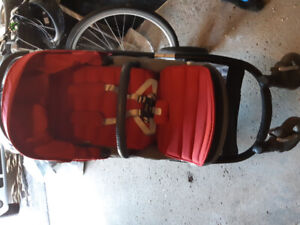 Like new red britax affinity stroller