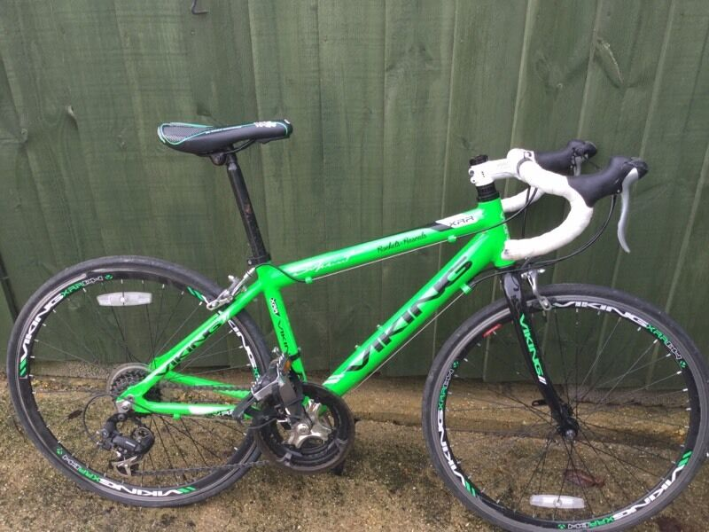 Childrens Viking Road bike bright greenin Poole, DorsetGumtree - Selling my sons road bike as he has outgrown it. Great condition. Does need new chain and derailleur. Cheap and easy fix. This is reflected in the price. Any questions please ask
