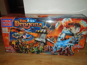 MEGA BLOKS FIRE ICE DRAGONS COLLECTION COMPLÈTE