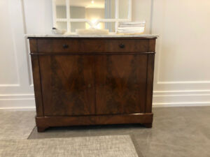 Antique Louis Phillippe Sideboard with Marble Top
