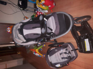 stroller with carseat and base and other accessories