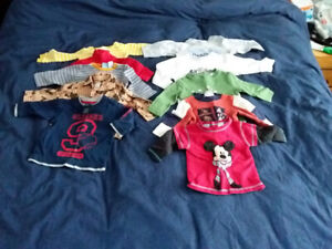 20 long sleeve shirts and pants Boys 12 months