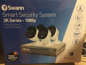 Swann Wired 4-CH 1TB DVR Security System with 4 Bullet 1080p Cam