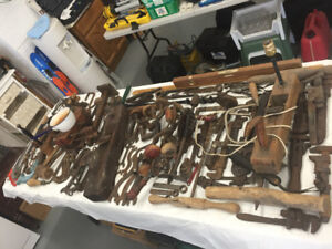 LOTS OF OLD TOOLS.