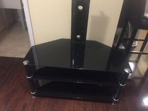 """Excellent Condition 40"""" TV Mount Trolley (Glass and Metal)."""