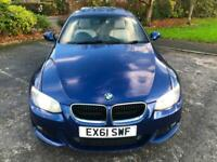 2011 61 BMW 320d Coupe M Sport 93000 Mls High Spec Inc Roof FSH Cream Leather!!