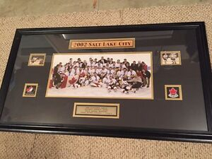 Salt Lake Salt Lake City authentic Olympic hockey framed picture