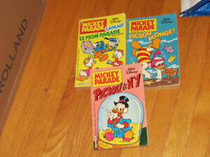 LOT DE 6  BD       WALT DISNEY              VINTAGE