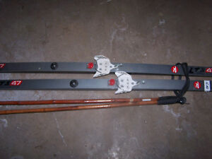 X-Country skis and poles