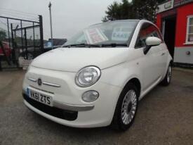 2011 Fiat 500 1.2 Lounge 3dr [Start Stop],Service history,2 keys,12 months mo...
