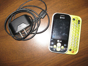 LG Slider Phone with Charger, New Battery-UNLOCKED