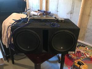 JLAudio 12w3 subs, 2000w Phoenix Gold Amp etc