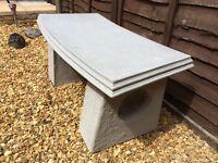 Concrete garden bench new