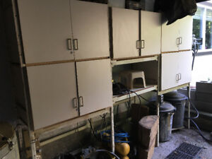 Heavy duty racking and cupboards