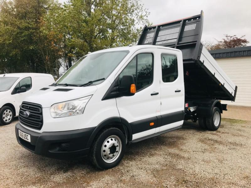 8c88a6e494e6a5 FORD TRANSIT 350 2.2 125ps 7 SEAT D CAB ONE STOP TIPPER ...