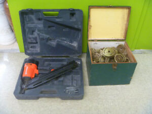 Performance Plus Roofing Nailer And Box Of Nails Etc.