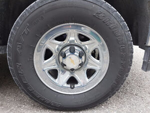 265x70R17 Chev Tires And Chrome Rims