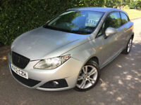 2012 12 SEAT IBIZA 1.4 16V SE SPORT COUPE COPA GREAT VALUE !!!