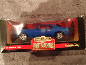 1:18 SCALE DIE-CAST AMERICAN MUSCLE 1970 PLYMOUTH 'CUDA - BLUE