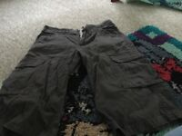 3 pairs short trousers- fat face, weird fish and house of denim, size 8